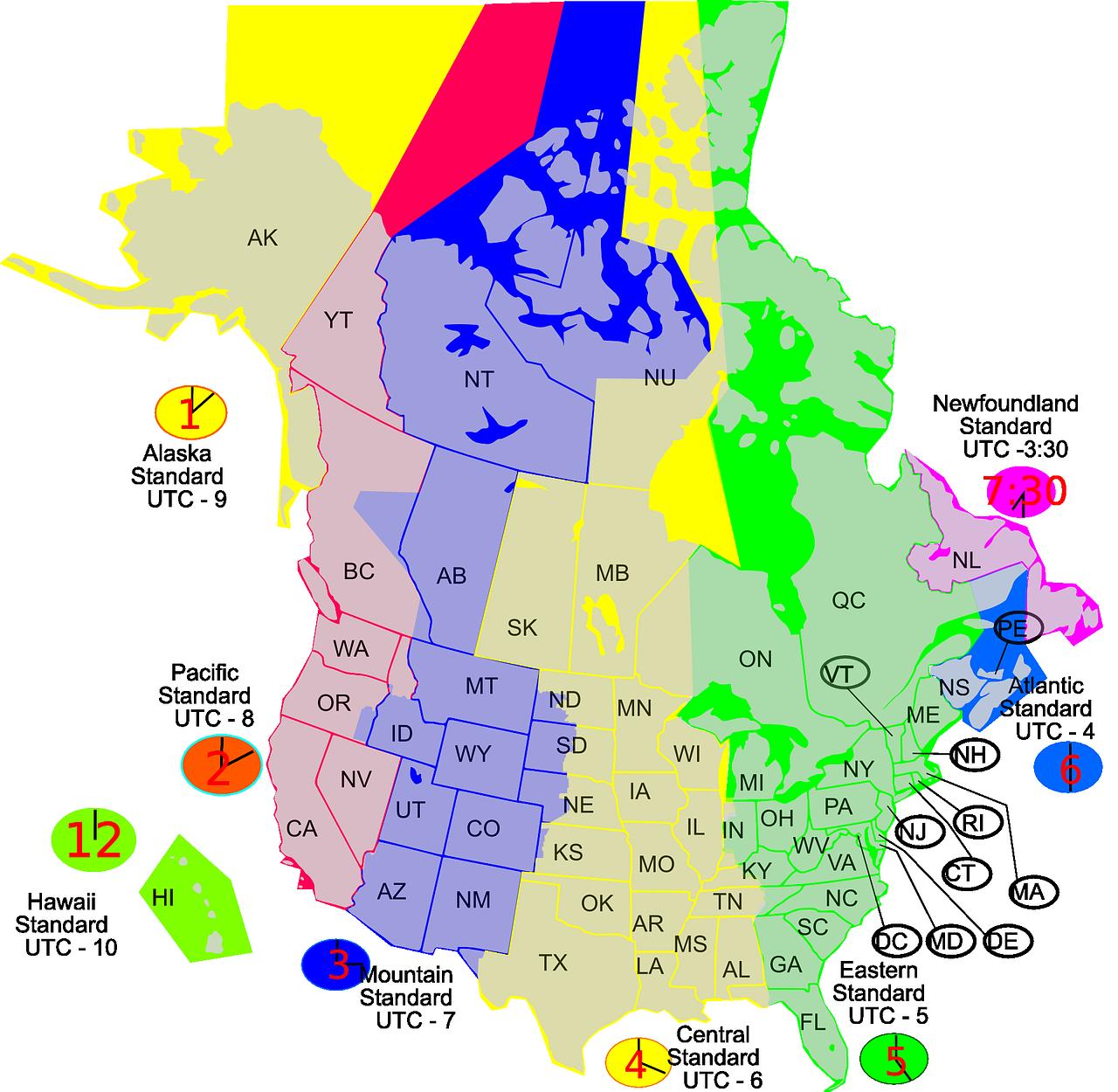 Canada Zeitzonen